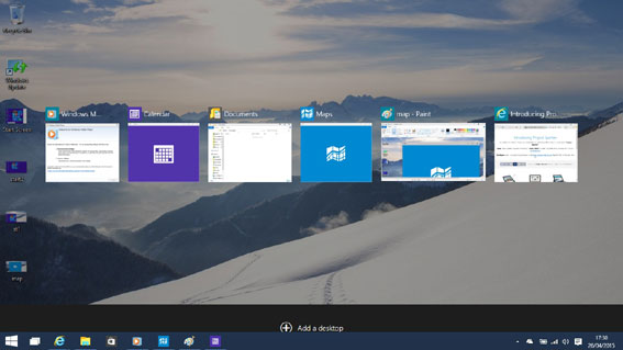 The new Task View - Windows-10